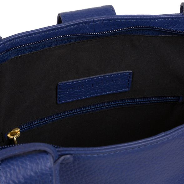 Luxuries genuine leather tote bag Pure Navy London 'Ida' CdBwxnp6q