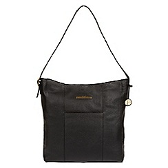 Pure Luxuries London - Black 'Rachael' genuine leather shoulder bag