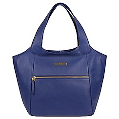 Pure Luxuries London Navy Alina Genuine Leather Hobo Bag
