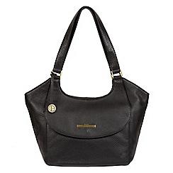 Pure Luxuries London - Black 'Denisa' genuine leather hobo bag