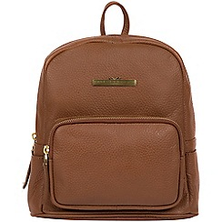 c2e215d044 Pure Luxuries London - Tan  Lois  leather backpack
