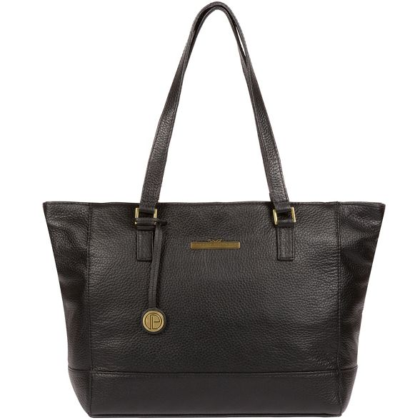 Pure London Black Luxuries 'Goldie' leather handbag 5rq5f