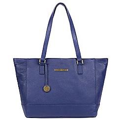 Pure Luxuries London - Navy 'Goldie' leather handbag