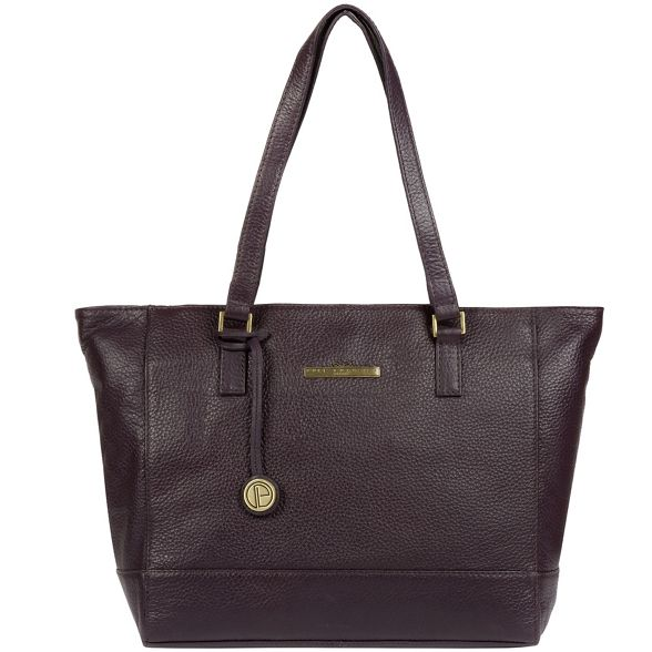handbag Pure London Luxuries leather 'Goldie' Plum AvOwT