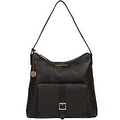 Pure Luxuries London - Black  Irena  genuine leather hobo bag 3c3c9b84d8d3e
