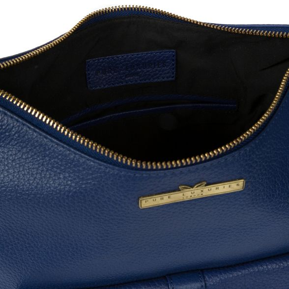 French Pure 'Irena' navy London Luxuries bag hobo genuine leather ww6ER