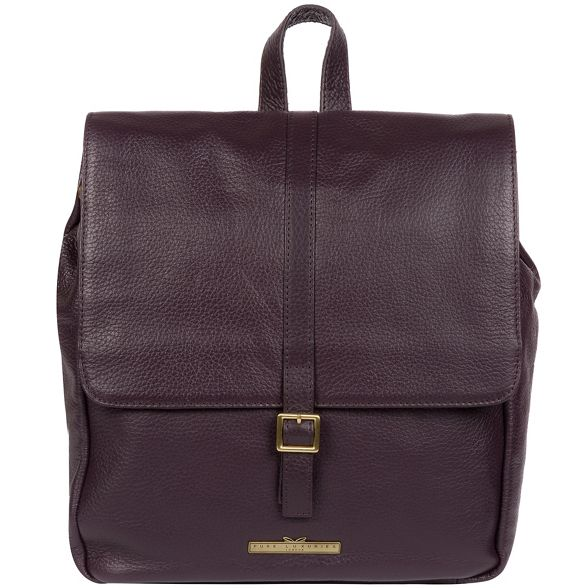 Pure backpack leather Plum Luxuries 'Maryam' London Pw0qxYPrX