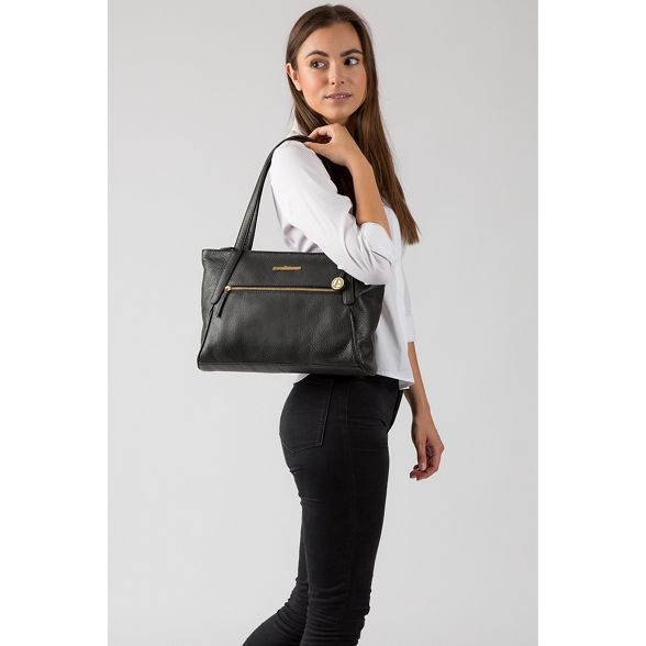 handcrafted medium tote Luxuries London 'Carly' Black bag Pure wWa6Iqpxw