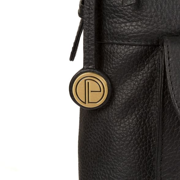 shoulder Pure Luxuries London 'Betsy' leather handcrafted bag Black w8vYq