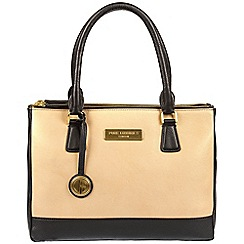 Pure Luxuries London - Black and champagne trim 'Jodie' soft leather handbag  Deluxe Collection