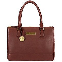 Pure Luxuries London - Auburn brown 'Jodie' soft leather handbag  Deluxe Collection