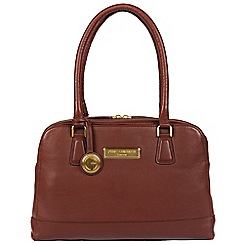 Pure Luxuries London - Auburn brown 'Fleur' soft leather handbag  Deluxe Collection