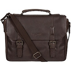 Pure Luxuries London - Cocoa 'Idris' leather briefcase