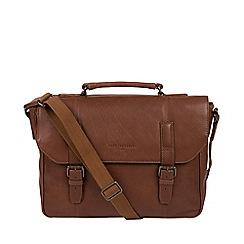 Pure Luxuries London - Hazelnut 'Idris' leather briefcase