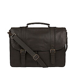 Pure Luxuries London - Ash Black 'Logan' Leather Briefcase