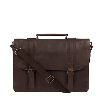 Pure Luxuries London   Cocoa 'logan' Leather Briefcase by Pure Luxuries London