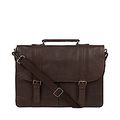 Pure Luxuries London - Cocoa 'Logan' Leather Briefcase