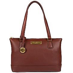 Pure Luxuries London - Auburn brown 'Freya' soft leather handbag  Deluxe Collection