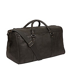Pure Luxuries London - Ash Black  Blanc  Leather Holdall 6b432b3a6f