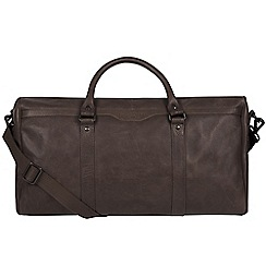Pure Luxuries London - Cocoa 'Blanc' leather holdall