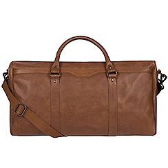 Pure Luxuries London - Nut 'Blanc' leather holdall