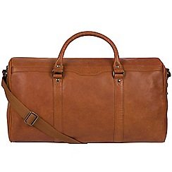 Pure Luxuries London - Tan 'Blanc' leather holdall