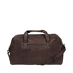 Pure Luxuries London - Cocoa 'Snowdon' handcrafted leather holdall