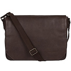 Pure Luxuries London - Cocoa 'Eiger' leather messenger bag