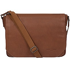Pure Luxuries London - Nut 'Eiger' leather messenger bag