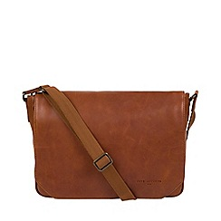 Pure Luxuries London - Tan 'Eiger' Leather Messenger Bag