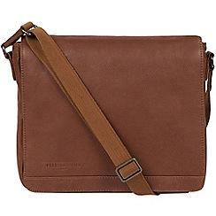 Pure Luxuries London - Nut 'Peak' leather messenger bag
