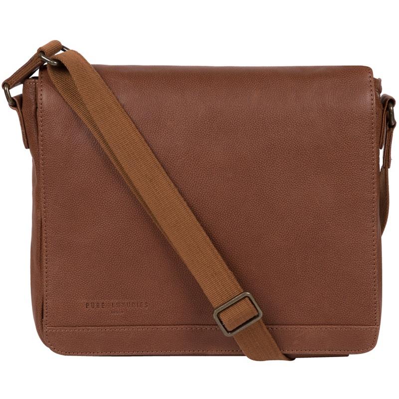 Pure Luxuries London - Nut Peak Leather Messenger Bag