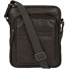 Pure Luxuries London - Ashblack 'Capitan' leather despatch bag