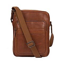 Pure Luxuries London - Tan 'Capitan' leather despatch bag