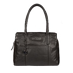 Pure Luxuries London Black And Silver Goldbourne Leather Handbag