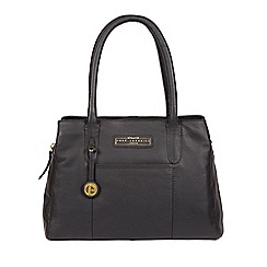 Pure Luxuries London Navy Goldbourne Leather Handbag