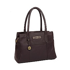 Pure Luxuries London Plum Goldbourne Leather Handbag