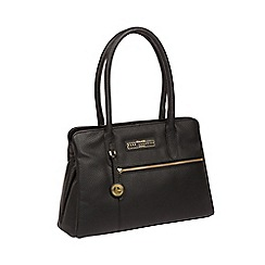 Pure Luxuries London - Black And Gold 'Regent' Handmade Leather Handbag