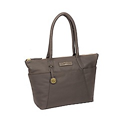 Pure Luxuries London Grey Holne Leather Tote Bag