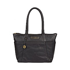 Pure Luxuries London - Navy 'Holne' Leather Tote Bag