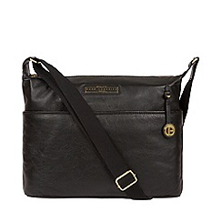 Pure Luxuries London Black And Gold Hove Leather Shoulder Bag