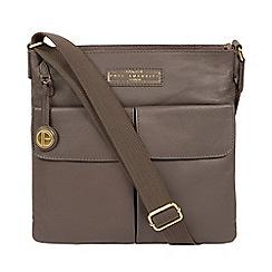 Pure Luxuries London Grey Barnwell Leather Cross Body Bag