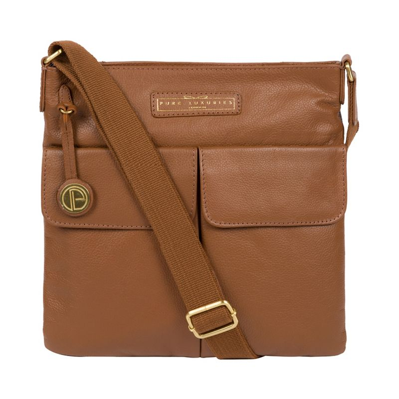 Pure Luxuries London - Tan Barnwell Leather Cross-Body Bag