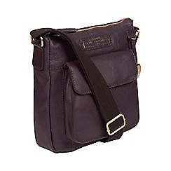 4ccab173839 Pure Luxuries London - Plum  Mayfield  Handmade Leather Cross-Body Bag