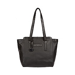 Pure Luxuries London - Black and silver 'bramhall' leather handbag