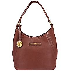 Pure Luxuries London - Auburn brown 'Catriona' soft leather handbag - Deluxe Collection
