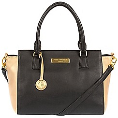 Pure Luxuries London - Black and champagne trim 'Jasmine' soft leather handbag  Deluxe Collection
