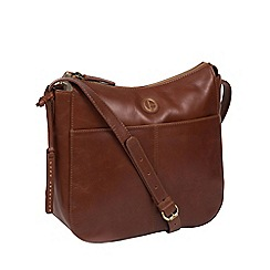 Pure Luxuries London Vintage Cognac Farlow Shoulder Bag
