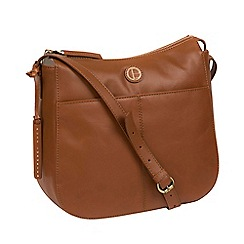 Pure Luxuries London Vintage Dark Tan Farlow Shoulder Bag