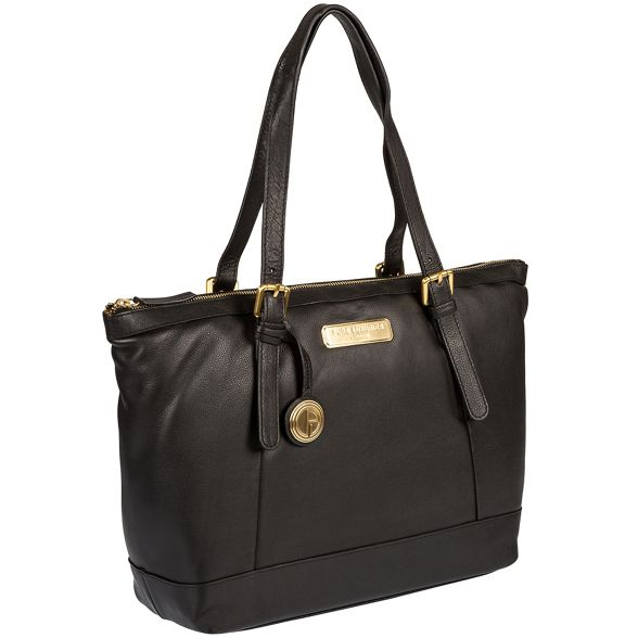 'Blossom' Luxuries Deluxe London Pure leather soft Black handbag Collection wtq00xB
